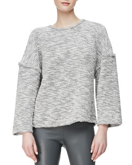 L'Agence Reversed-Seam Knit Sweater