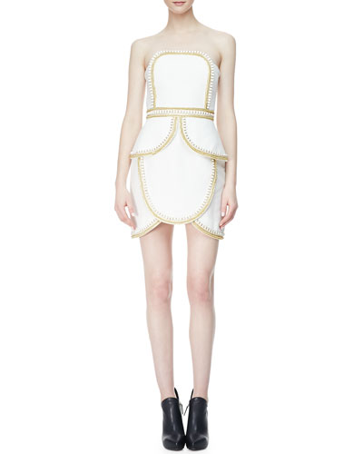 sass & bide The Cold Snap Strapless Dress