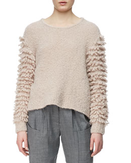 Thakoon Addition Looped-Fringe Knit Pullover