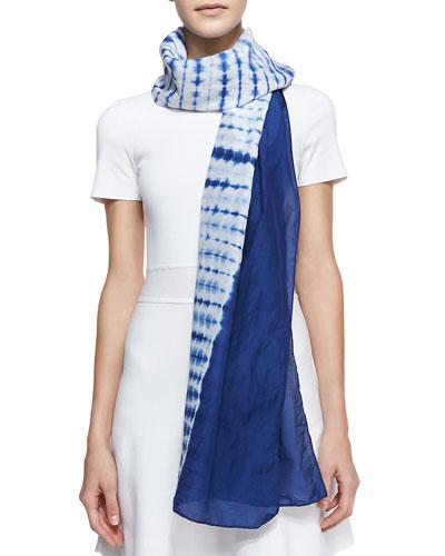 Minnie Rose Silk Tie-Dye Scarf