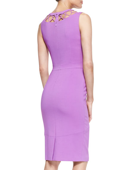 Cyane Crisscross-Yoke Sleeveless Sheath Dress