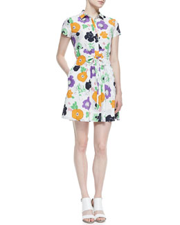 Raoul Darla Drawstring Floral Print Dress