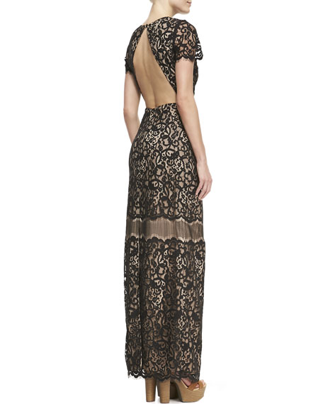 Sia Lace Back-Cutout Dress