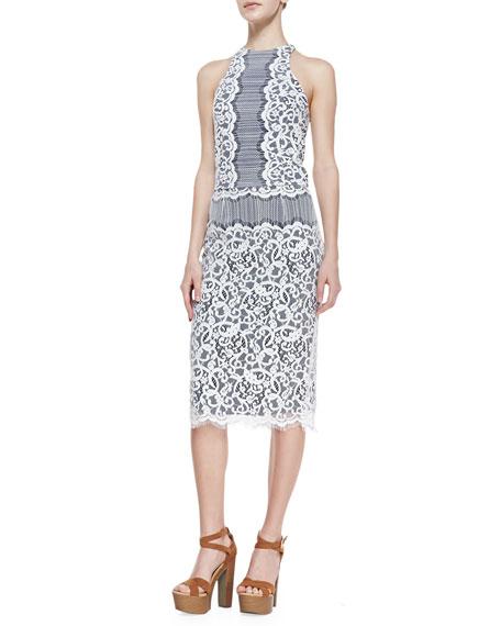 Cecelia Lace Pencil Skirt