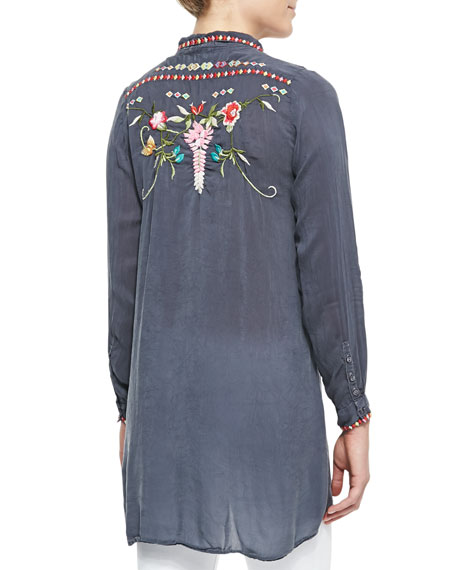 Eyva Embroidered Long Tunic, Women's