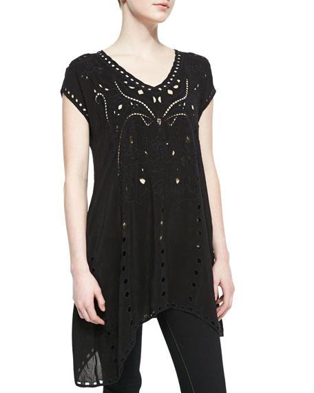 Tessa Asymmetric Cutout Tunic, Women's