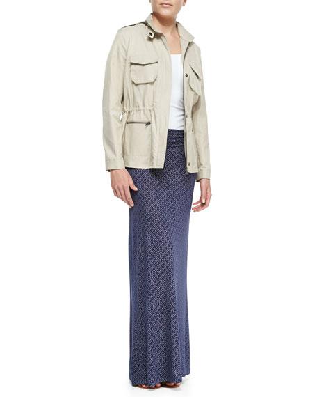 Kalani Ruch-Waist Maxi Skirt