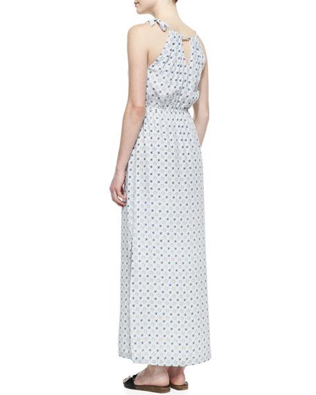 Amaretta Printed Silk Maxi Dress