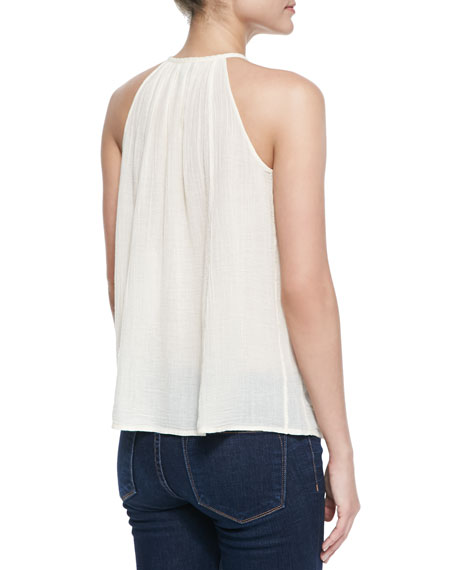 Eniko Voile Embroidered Tank Top