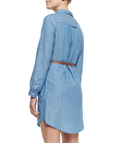 Tarellia Long-Sleeve Denim Shirtdress