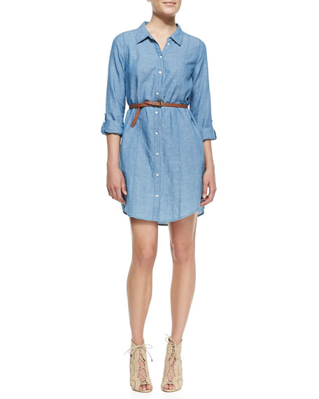 Tarellia Long-Sleeve Denim Shirtdress