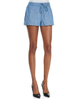Joie Sivan Cotton/Linen Denim Shorts