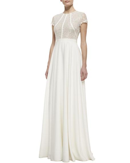 Kyra Cap-Sleeve Gown