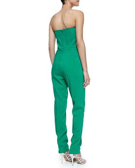 Michael Kors Strapless Sweetheart Jumpsuit, Emerald