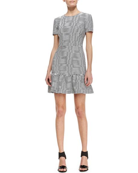 Siro Striped Drop-Waist Fit-and-Flare Dress