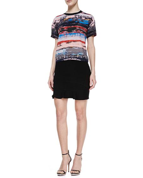 Snowe Insert Knit Miniskirt