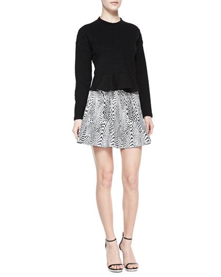 Techno Tubular Jacquard Skirt