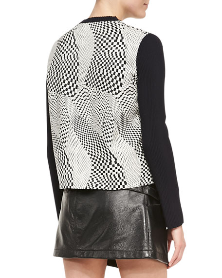 Technotronic Jacquard Long-Sleeve Pullover
