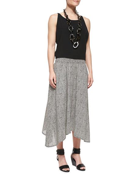 Bandini-Print Full-Length Skirt
