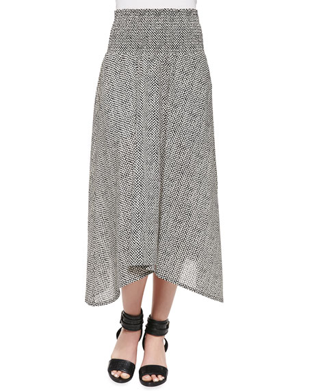 Bandini-Print Full-Length Skirt