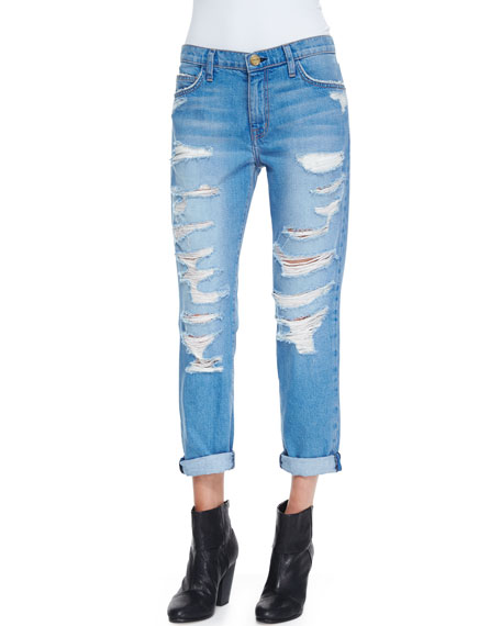 The Fling Tattered Destroyed Relaxed Jeans