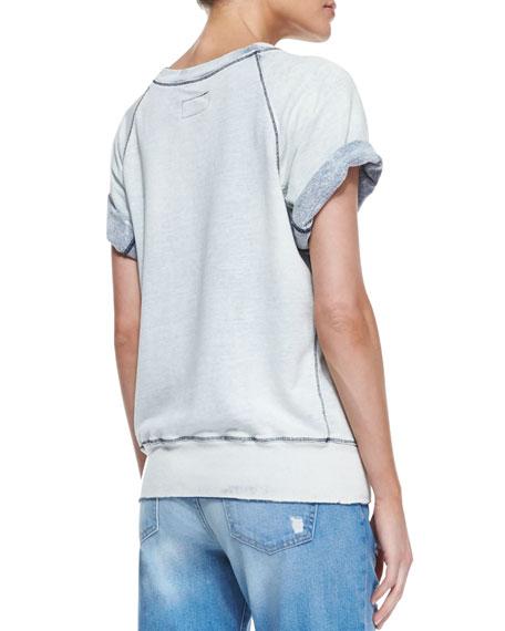 The Rolled-Sleeve Distressed Sweatshirt