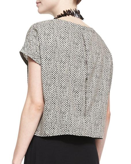 Bandini-Print Short-Sleeve Top