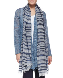 Eileen Fisher Nomadic Multi-Stripe Scarf