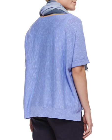Boxy High-Low Top, Plume, Women's