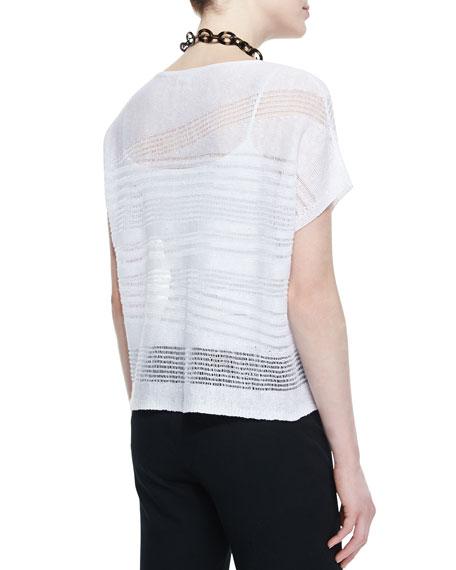 Short-Sleeve Linen Drift Box Top, Petite
