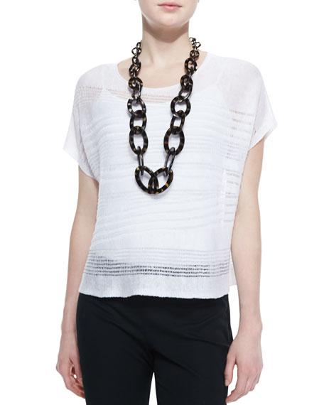 Short-Sleeve Linen Drift Box Top, Women's