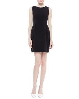 kate spade new york tiff sleeveless bell-skirt dress, black
