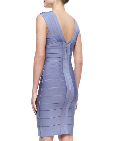 Sleeveless Deep-V Bandage Dress