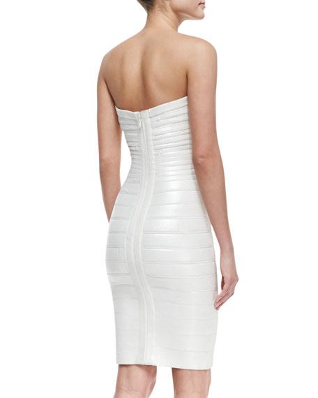 Strapless Sequined Bandage Dress