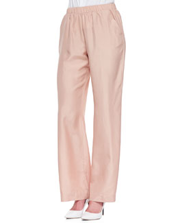 Minnie Rose Washable Silk Habutai Palazzo Pants