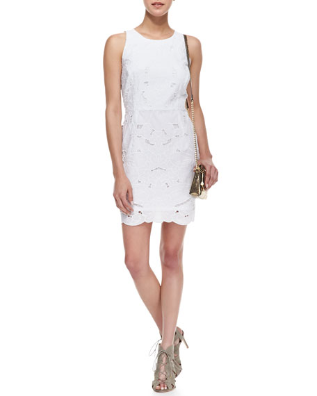 Claudia Embroidered Sleeveless Dress