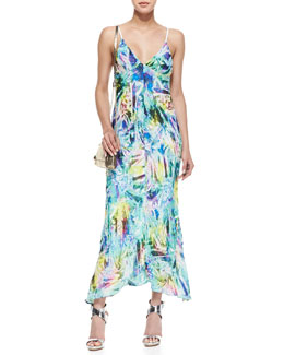 Milly Cellophane Print Maxi Dress