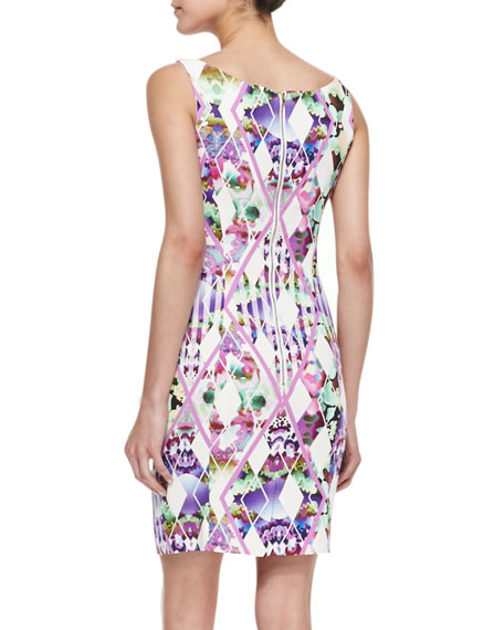 Hypnotic Print Slim Sheath Dress