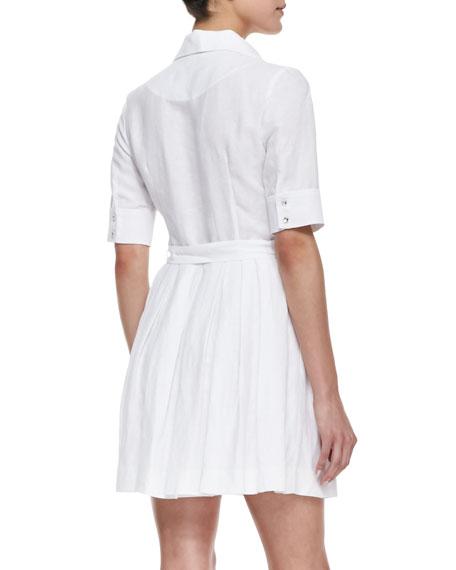 Cleo Tie-Waist Shirtdress
