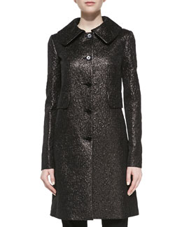 Michael Kors Crushed Brocade Topper, Black