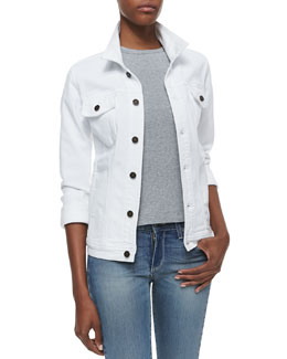 CJ by Cookie Johnson Trust White Denim Jacket