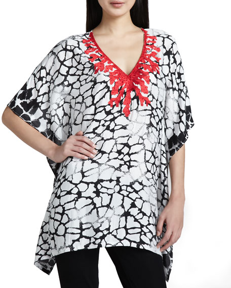 Indikka Embroidered Print Tunic