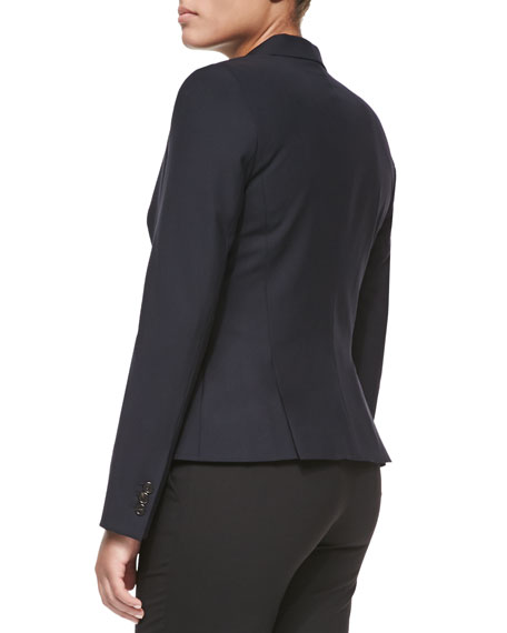 Two-Button Blazer, Navy, Women's