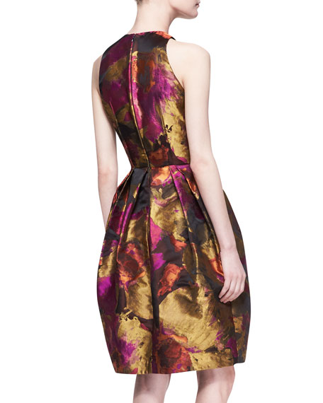 Halter-Top Floral-Print Cocktail Dress