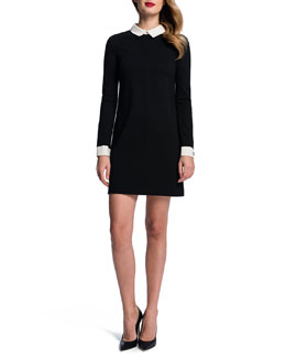 Cynthia Steffe Long-Sleeve Collared Shift Dress