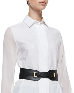 McQ Alexander McQueen Equestrian Faux Leather Cinch Belt