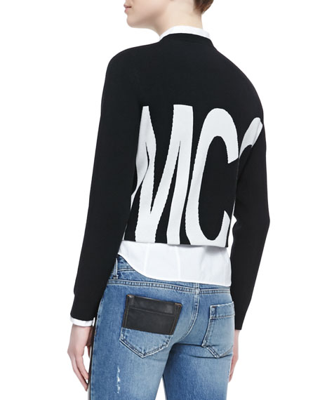 McQ Logo Cropped Sweater