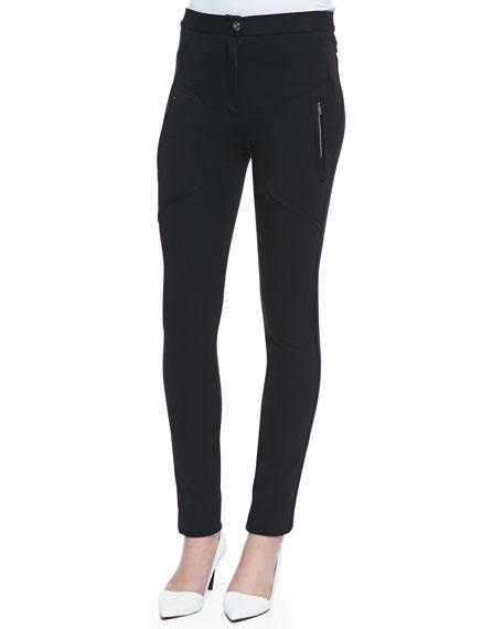 Arlyn Ponte Side-Zip Pants