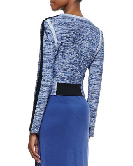 Kevin Front-Zip Tweed Jacket