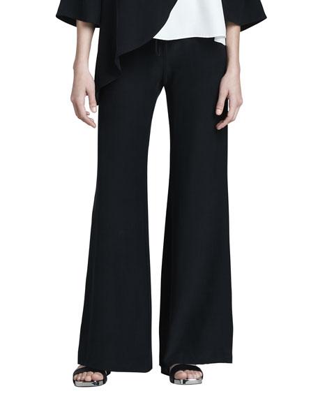 Drawstring Silk Pants